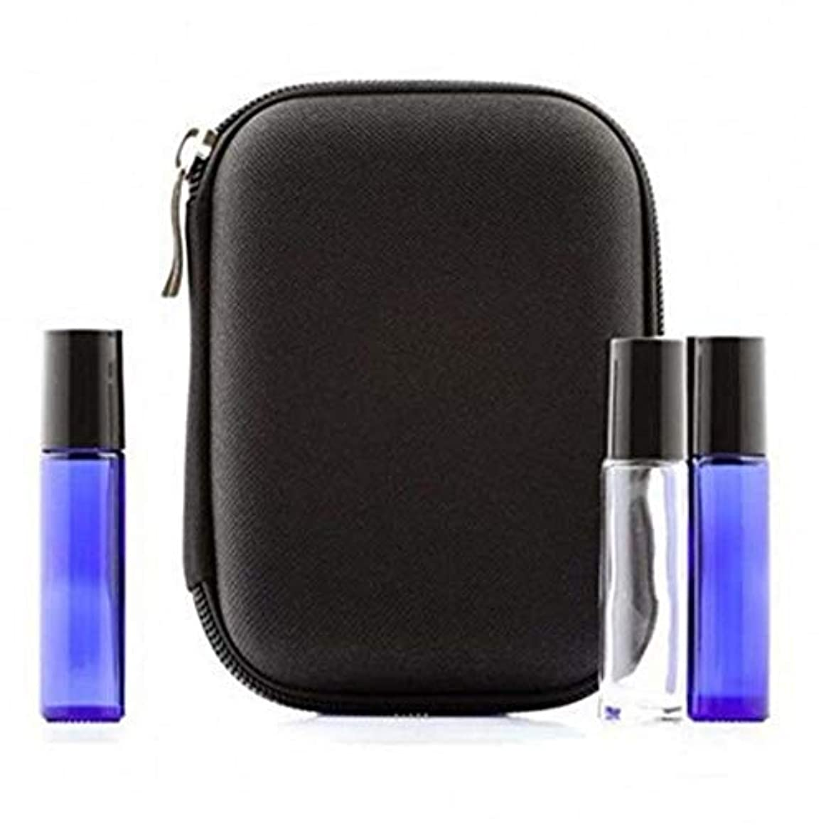 すみませんシットコム取り組む精油ケース 最大10本のボトルローラーと標準ボトル10ミリリットルパーフェクト(ブラック)のためのケースプレミアムハードシェル保護キャリングエッセンシャルオイルボトル 携帯便利 (色 : ブラック, サイズ : 15X11X5CM)