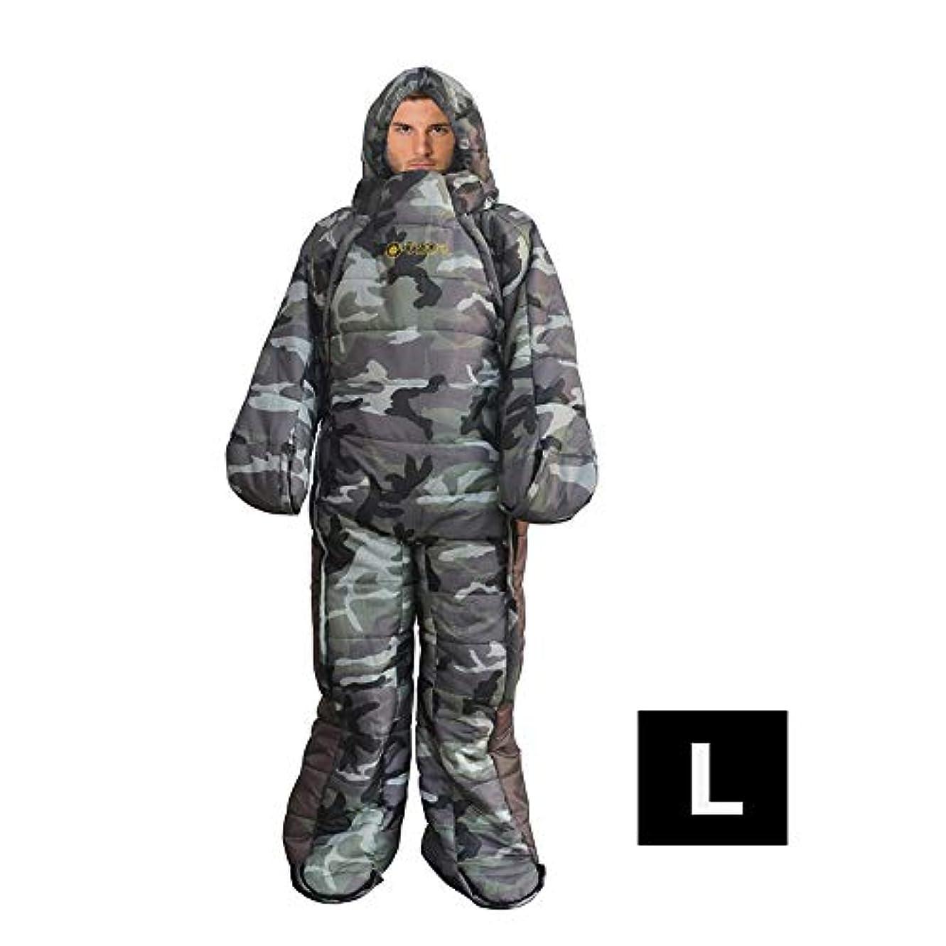 ブリリアント検出器不規則性屋外キャンプミイラ寝袋、 ウェアラブル寝袋ウォーキング寝袋、 ポータブルハイキング防水バックパック寝袋、 大人の綿フランネル寝袋、 圧縮バッグを送る