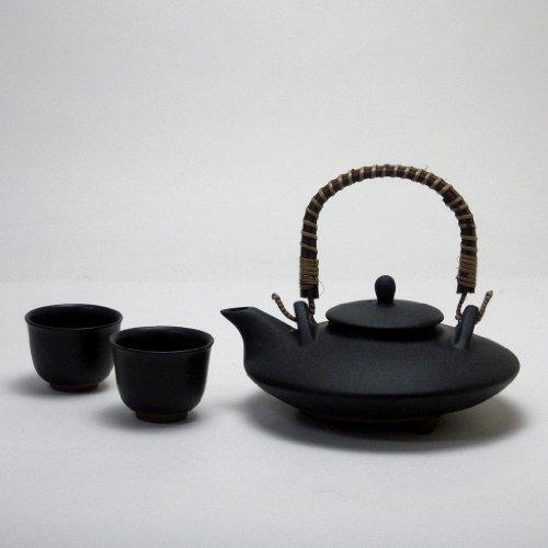 じざけや黒千代香 (くろじょか) セット(耐熱黒釉焼酎燗瓶)...