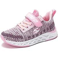 BODATU Kids Boys Girls Running Shoes Comfortable Fashion Light Weight Slip on Cushion