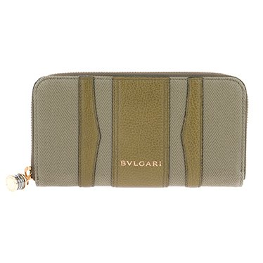 BVLGARI ブルガリ 33775 CANVAS/BRW 長財布 レディース [並行輸入品]