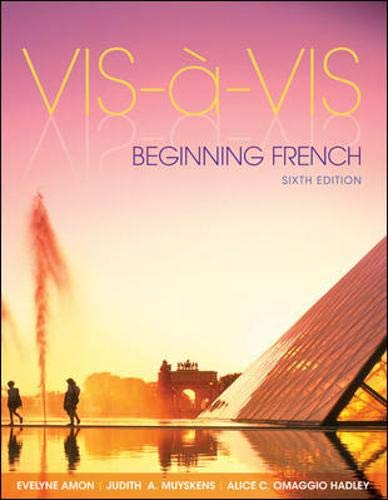 Download Vis-à-vis: Beginning French (Student Edition) 0073386472