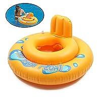 POOM1 ピース 65 × 45 センチメートルラウンド夏のキッズベビーフロートプール 2 円中空水泳シートリング漫画フロート水泳プール