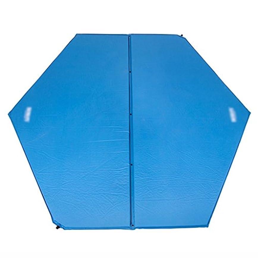 アンペア勇者からに変化するピクニックマット 自動インフレータブルクッションモイスチャライザーマットピクニックキャンプ屋外テントスリーピングパッドヘキサゴンエアベッドブルー