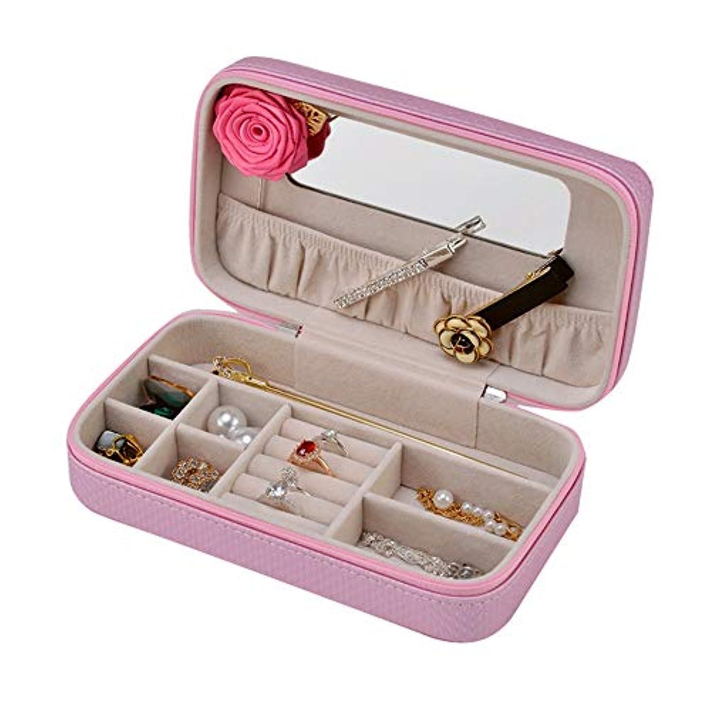 大陸ショッピングセンター同様の化粧オーガナイザーバッグ 丈夫な女性のジュエリーのストレージの木箱小物のストレージのための 化粧品ケース (色 : 紫の)