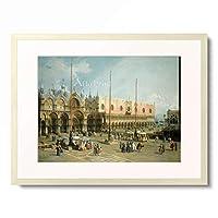 カナレット Canaletto (Giovanni Antonio Canal) 「The Square of Saint Mark's, Venice, 1742」 額装アート作品