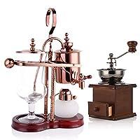 ベルギーのコーヒーポット、 サイフォニック アルコールランプ 王室貴族  コーヒーメーカー ローズゴールド (Color : Rose gold)