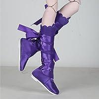 Lovoski 全2色 人形用 アクセサリー 1/3 BJD人形ドールのため ファッション バレエシューズ ダンスシューズ - パープル