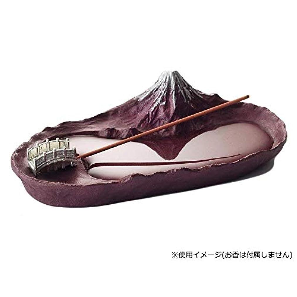 出力愛撫モットーインセンスホルダー 香立て さかさ富士 赤富士