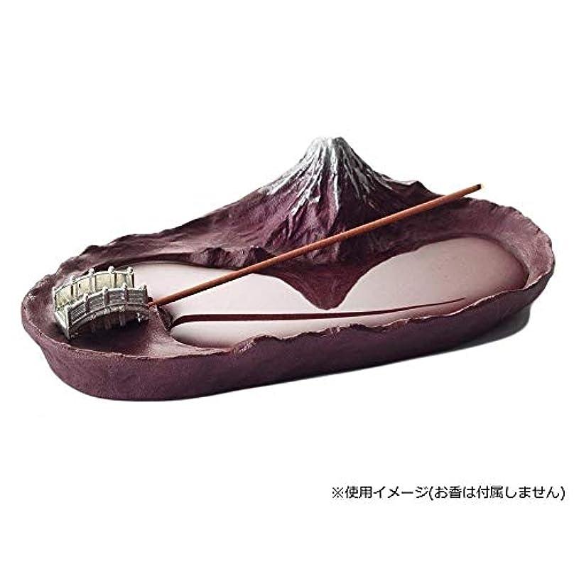 女王含める不愉快にインセンスホルダー 香立て さかさ富士 赤富士