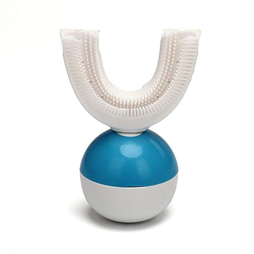 可愛いしみ乗算IPO 電動歯ブラシ 360°自動歯ブラシ U型 音波 自動 ワイヤレス充電 成人 怠け者 ユニークなU字型のマウスピース わずか10秒で歯磨き 自動バブル 2本の歯ブラシヘッド付き あなたの手を解放 磁気吸引接続 歯ブラシ...