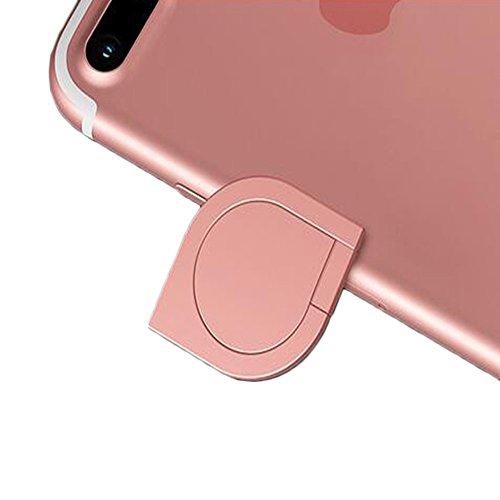 DBMART スマホリング ホルダー バンカーリング 360度回転 落下防止 ホールドリング 車載ホルダー対応 iPhone/iPad/iPod/Galaxy/Xperia/android多機種対応 スマートフォン・タブレット金属を指1本で保持・落下防止・スタンド機能 アルミニウム合金 スマホリング スマホ対応 シズク ハンドスピナー 指先ジャイロ ジャイロ 耐荷重約3-5kg 水洗できる (ローズゴールド)