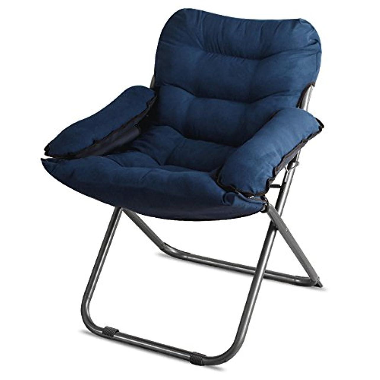 スケルトンショートカット育成JTWJ 折り畳み式椅子怠惰な背もたれのリクライニングコンピュータのコンピュータのアームチェアドミトリーのレジャーベッドルームのリビングルームの座席 (Color : D)