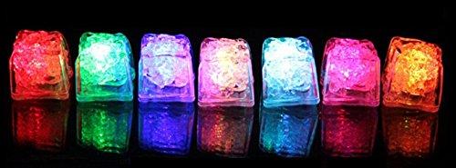 ビューティーライフ【Beauty Life®】光る氷 LED キューブ アイス ライト センサー 感知型 (MIX12個セット)