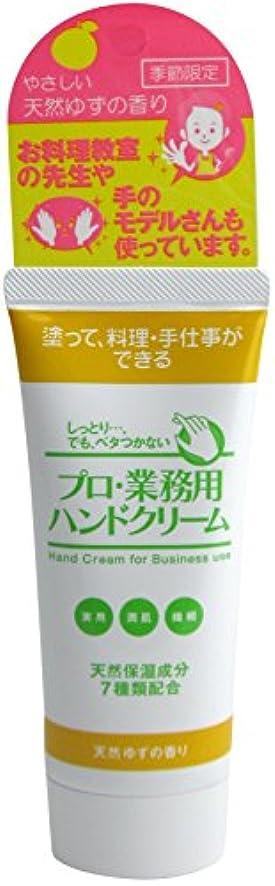 接続詞外観誤解させるプロ業務用ハンドクリーム 天然ゆずの香り