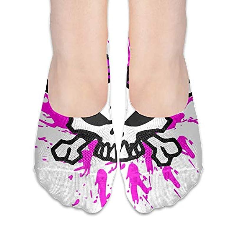 農業絡み合い解放女性のためのショーの靴下はローカットカジュアルソックス非スリップピンクシュガースカル