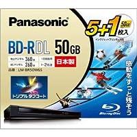 パナソニック(家電) 録画用2倍速ブルーレイディスク片面1層50GB(追記型) 5枚+1枚パック