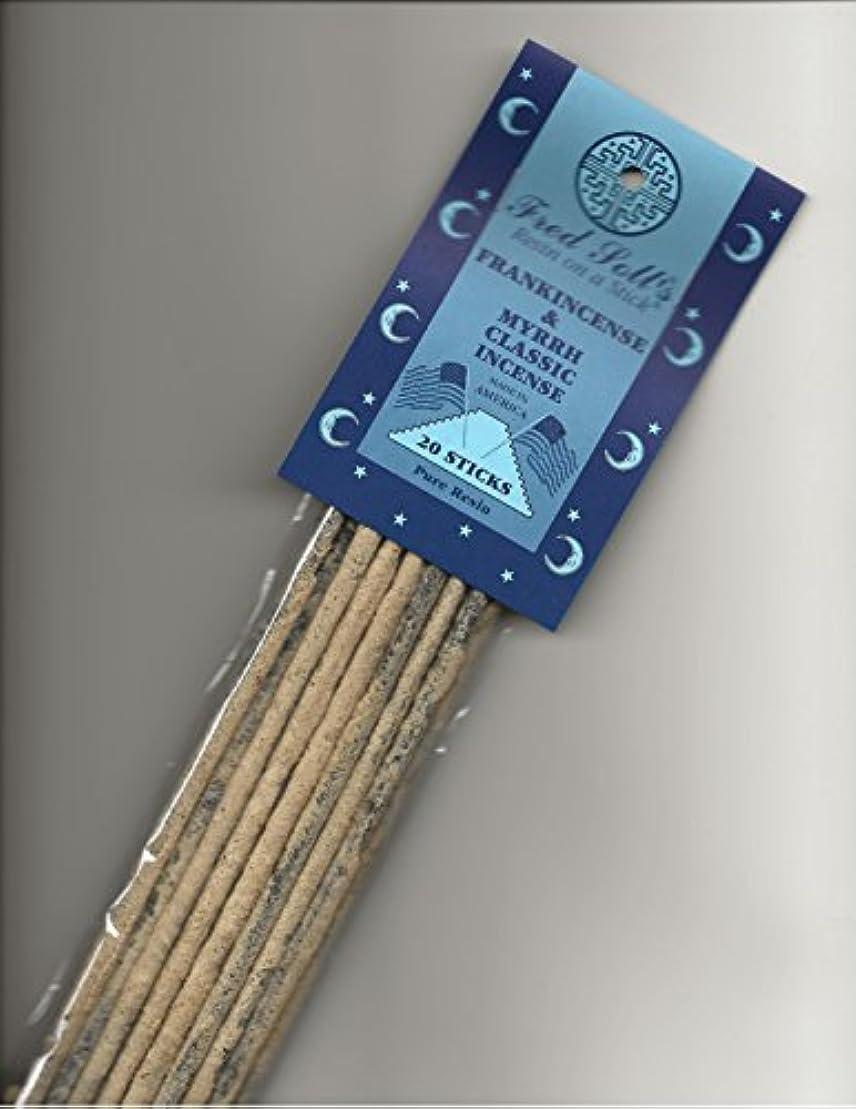 読み書きのできない血統スキニーFred Soll 's Frankincense & Myrrhクラシックお香、20 Sticks