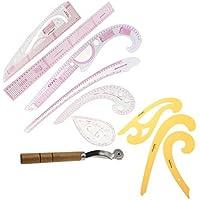 Fityle カーブルーラー 布ホイール 図面テンプレート カーブエッジ 裁縫 定規 ツール 9個入り 便利