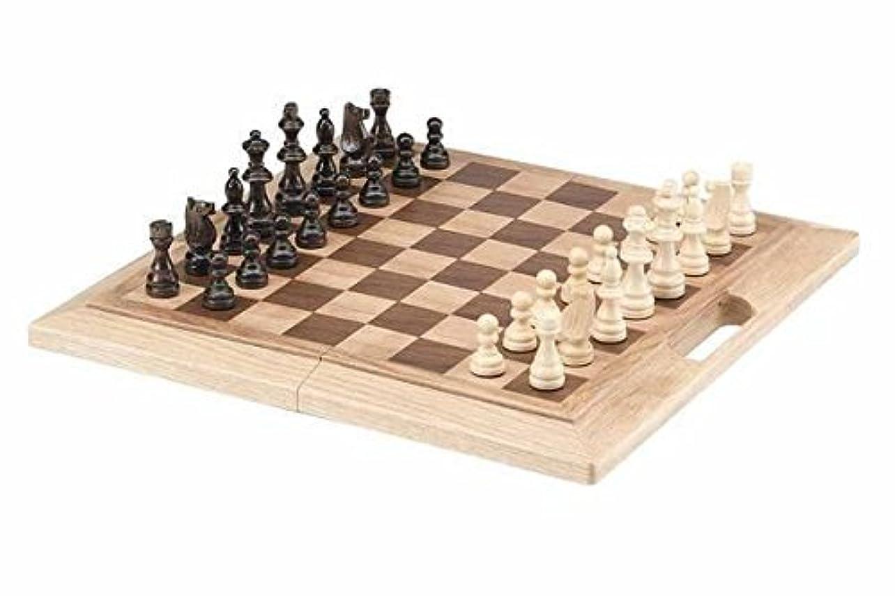 CHH Imports 16 Inch Oak Folding Chess Set [並行輸入品]