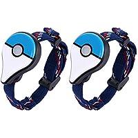 volflashy リストバンド ポケモン 発見 2pcs Bluetooth ブレスレット インタラクティブ フィギュア おもちゃ ゲーム アクセサリー Nintend Pokemon Go Plus 用
