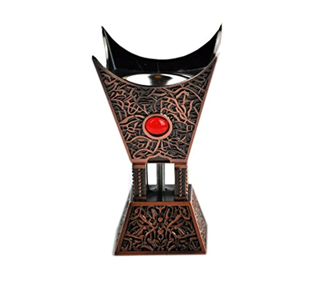 筋肉のドラム編集するArabia Incense / bakhoor Burner ( Mabkhara ) – Oud Burner、ブロンズ、トレイInside – USA Seller