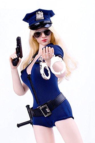 1/6 フィギュア 用 アクセサリー/ 超セクシー女性警察官 制服 アウトフィット(素体とヘッドは含まりません)