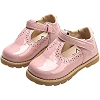 WUIWUIYU Toddlers Little Girls Retro T-Strap Princess Oxfords Mary Jane Flats School Dress Shoes