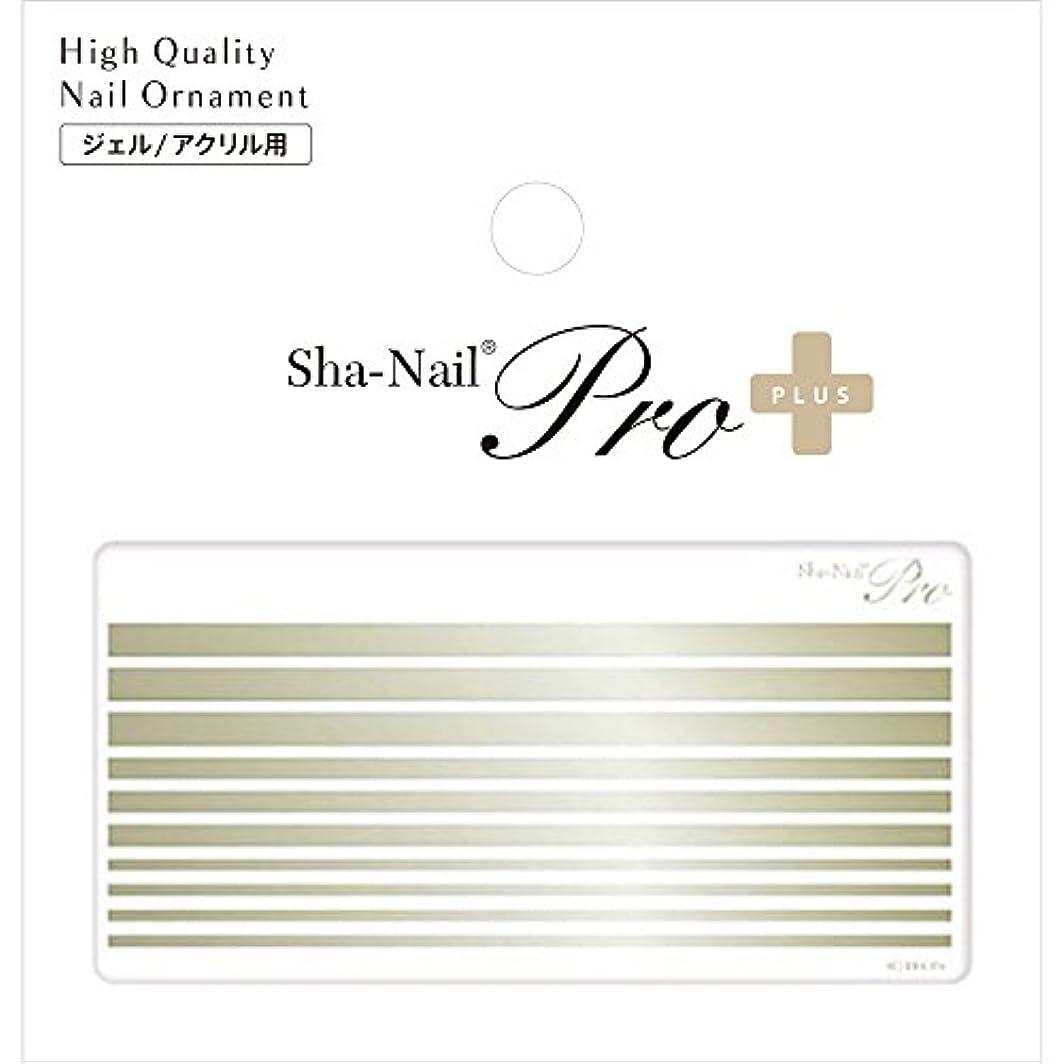 六温度計ハンマーSha-Nail PLUS ボールドライン シャンパンゴールド ネイルシール