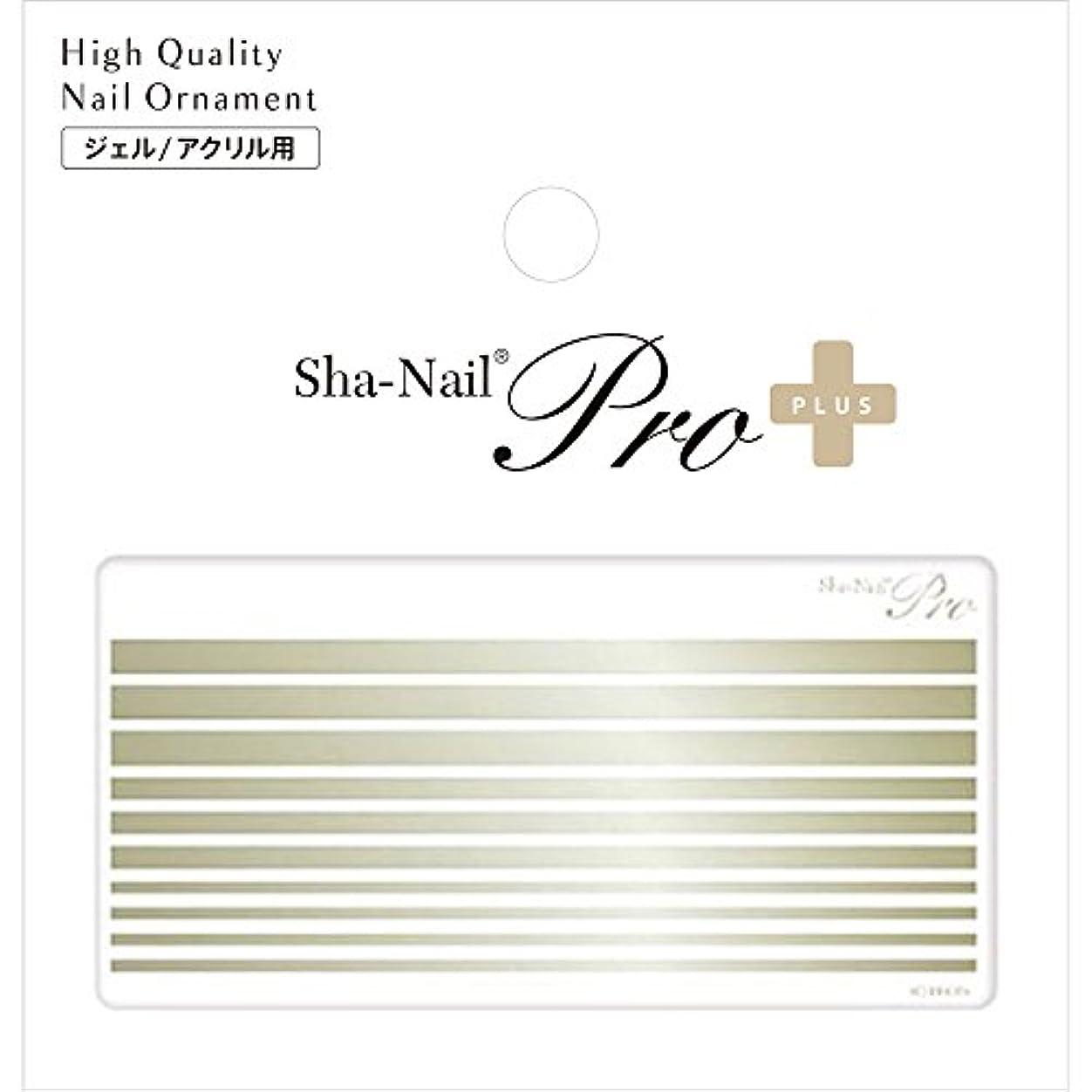 葉を拾うタブレットウェイターSha-Nail PLUS ボールドライン シャンパンゴールド ネイルシール