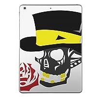 iPad Air スキンシール apple アップル アイパッド A1474 A1475 A1476 タブレット tablet シール ステッカー ケース 保護シール 背面 人気 単品 おしゃれ ユニーク ドクロ 骸骨 薔薇 006941