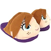 Disney Frozen 2 Plush Slippers Kids (XL, Anna Purple)
