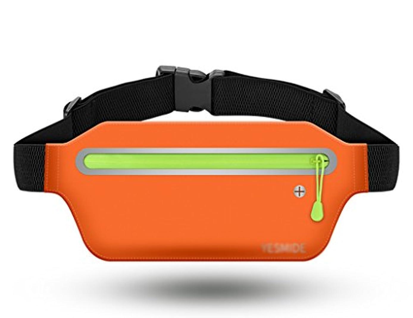 厄介な乗算靄TH 屋外運動ウエストバッグラン電話ウエストバッグ多機能ウエストバッグフィットネス防水目に見えない閉じる フィットネスベルト ( 色 : オレンジ )