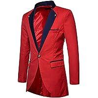 Men's Slim One Button Tails Tailcoat Coat Swallowtail Party Blazer Jacket