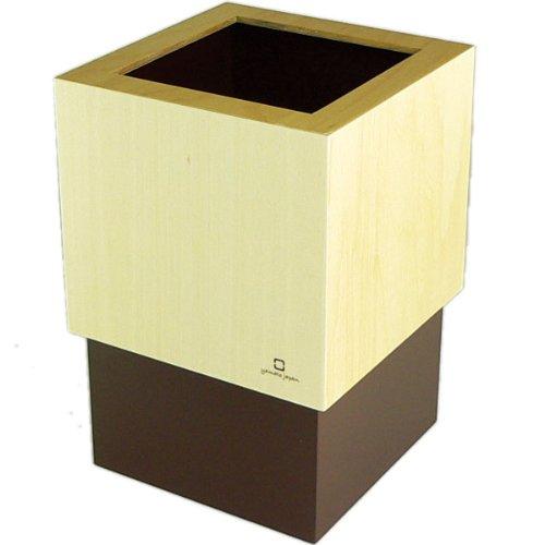 ヤマト工芸 W CUBE ダストボックス DUSTBOX M 茶色 YK09-020Br 4L