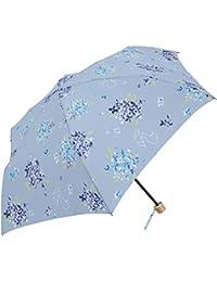 レディース 晴雨兼用 おしゃれな あじさい PUコーティング 50cm 折りたたみ傘