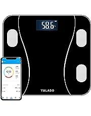 体重・体組成計 YALASO 体重計 体脂肪計 体組成計 体脂肪率/体水分率/基礎代謝量/骨量/内臓脂肪レベル/BMI/筋肉の重量など測定可能 Bluetooth対応 iOS/Androidアプリで健康管理 縄跳び付き