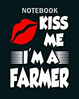 Notebook: farmer 2 - 50 sheets, 100 pages - 8 x 10 inches