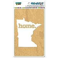 ミネソタ州ミネソタ州ホーム州 MAG-NEATO'S(TM) ビニールマグネット - テクスチャゴールデン黄