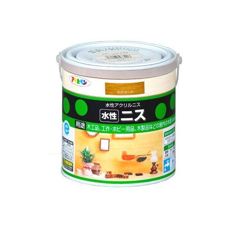 アサヒペン 水性ニス ライトオーク 缶0.7l