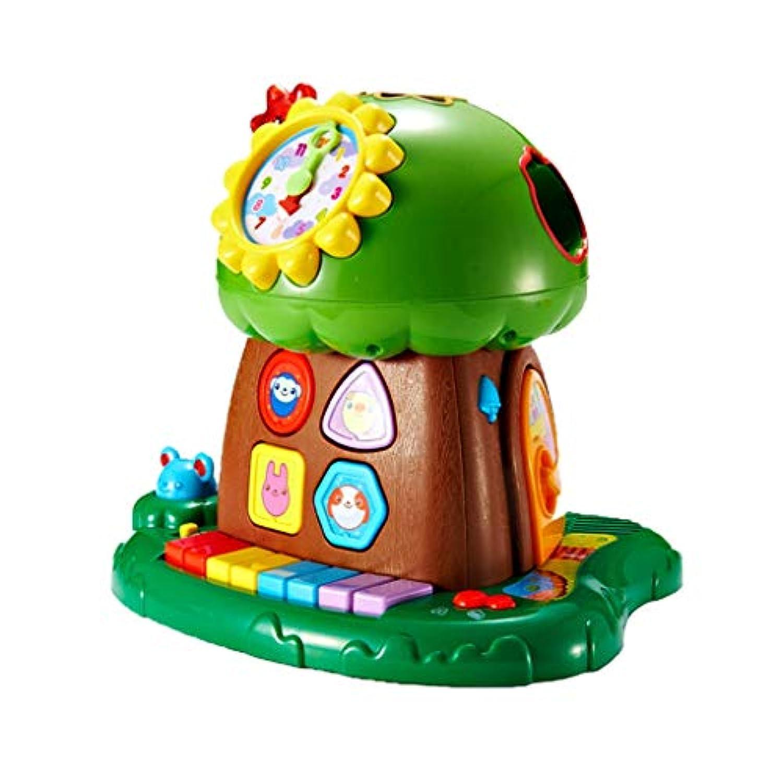 LIUFS-toys おもちゃビルディングブロック Abacus キーボード 知恵の木 (色: グリーン サイズ: S )
