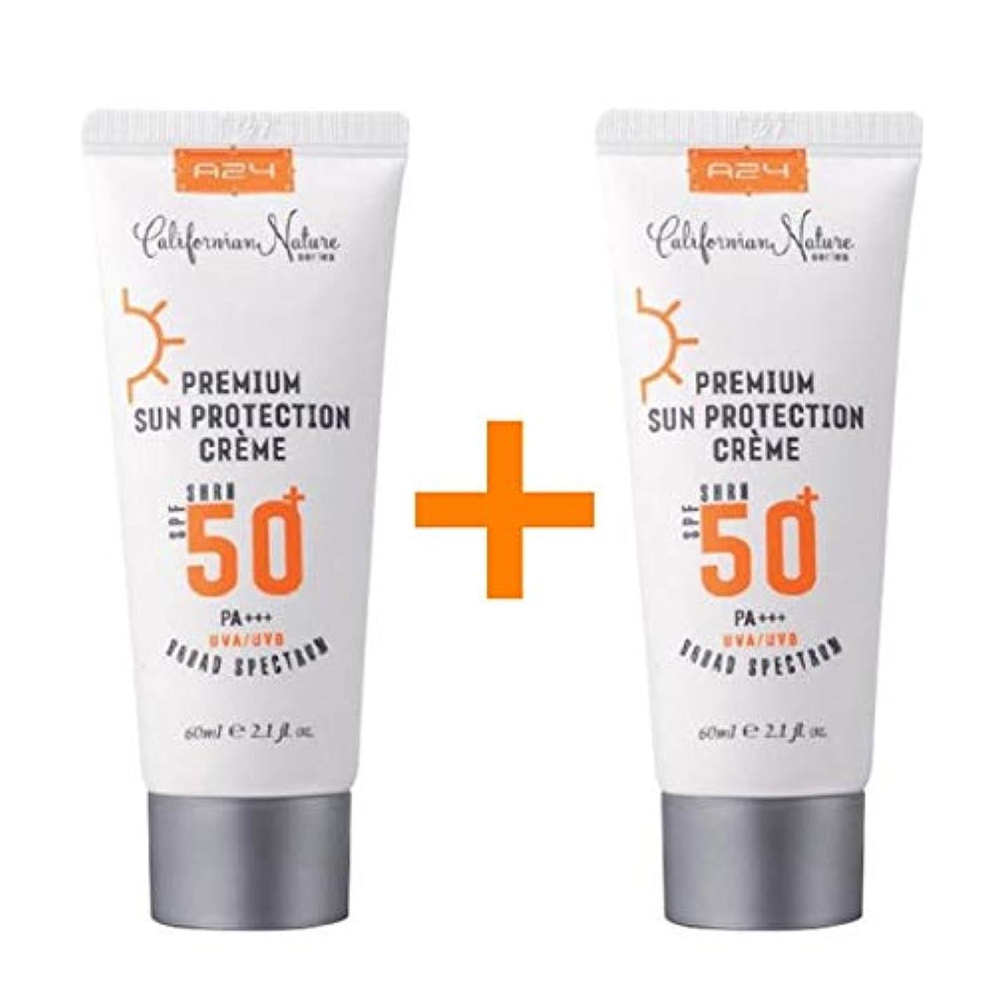 蒸留ハドル伴う[1 + 1 ] A24 プレミアム サン プロテクション クリーム 60ml (SPF50+/PA+++) / Premium Sun Protection Cream/米国コスメ 米国日焼け止め