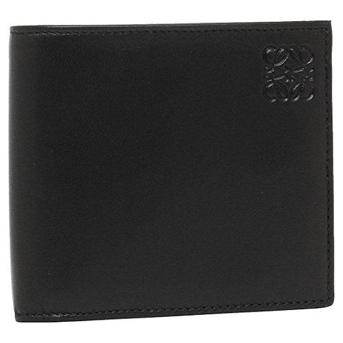 ロエベ 財布 LOEWE 109 80 501 1217 BIFOLD COIN WALLET BLACK メンズ 二つ折り財布 無地 BLACK/KAKHI GREEN [並行輸入品]