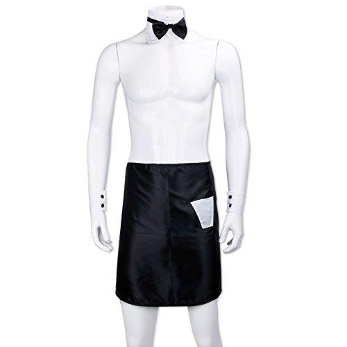 (アイム)iiniim メンズセクシーコスチューム セクシー下着 夜の紳士 変態仮面 仮装 ナイトウエア コスプレ パーティーナイト お得(3件のセット:エプロン、ネクタイ、カフ)