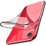 TOZO for iPhone Xr Case 6.1 Inch (2018) Crystal Clear Soft TPU Gel Skin Ultra-Thin [Slim Fit] Transparent Flexible Premium Cover [Wireless Charger Compatible] for iPhone Xr with Design [Clear]