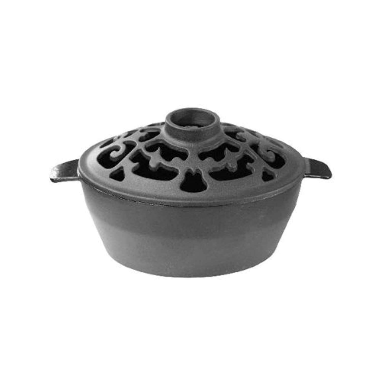 Woodeze Home Indoor Decorative Wood Stove Cast Iron Humidifier 2 Quart Satin Black Filigree Steamer by John Wright