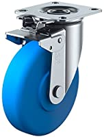 ユーエイキャスター J2K型 自在車 旋回固定式 150mm MCナイロン ※受注生産品 MCBJ2K-150