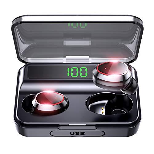 令和モデル LEDディスプレイ Bluetooth イヤホン イヤレス イヤホン IPX7防水 Hi-Fi高音質 AAC対応 LEDディスプレイ電量表示 最新bluetooth 5.0第2世代+EDR 完全ワイヤレス イヤホン ブルートゥース イヤホン 両耳 左右分離型 自動ON/OFF ボリューム調節可能 自動ペアリング 音量調節 両耳通話 Siri対応 PSE&技適認証済み Siri対応 iPhone/iPad/Android適用