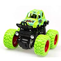 Nessere 子供用 耐衝撃 インエルティア 4輪駆動 シミュレーション 車 おもちゃ 車 プッシュ&プルおもちゃ 9 x 8.5 x 7.5cm/3.5 x 3.3 x 3inch SWPM033602_G*