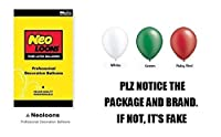 Neo LOONS 10インチ パールホワイト&グリーン&ルビーレッド プレミアムラテックスバルーン 誕生日 結婚式 披露宴 ベビーシャワー デコレーション 100個パック